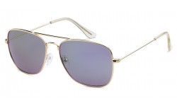 Fashionable Clear Ear Tips Square Aviator Sunglasses AF112-RV
