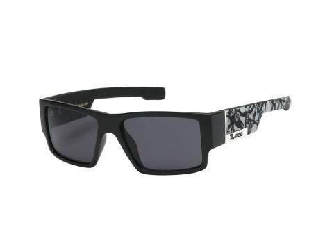 Locs Black Frame with Skull Print Tough Guy's Sunglasses 91085