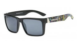 Biohazard Decorated Temple Sunglasses bz66243