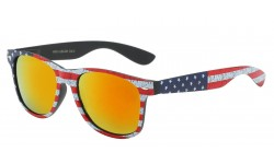 Iconic Design USA Flag Sunglasses WF01-USA-BK