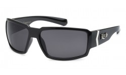 Locs Shiny Black Sunglasses loc91084-bk