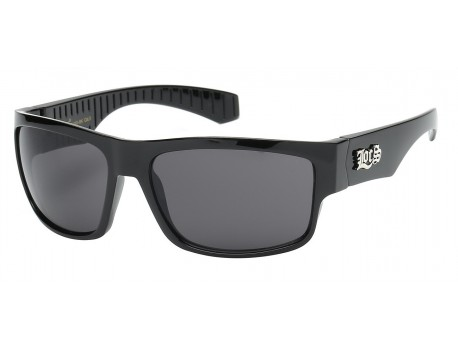 Locs Retro Flat Polished Sunglasses 91113-bk