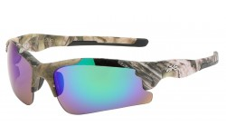 Xloop Semi Rimless Wrap Sunglasses x3624-camo