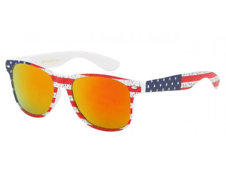 Wayfarer Star Printed Shades wf01-usa-wht